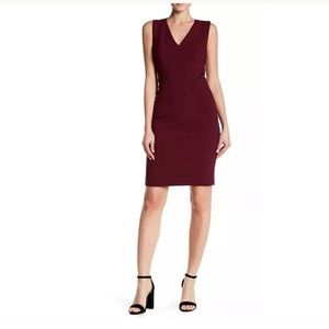 T Tahari wine purple Nala dress Sz 4